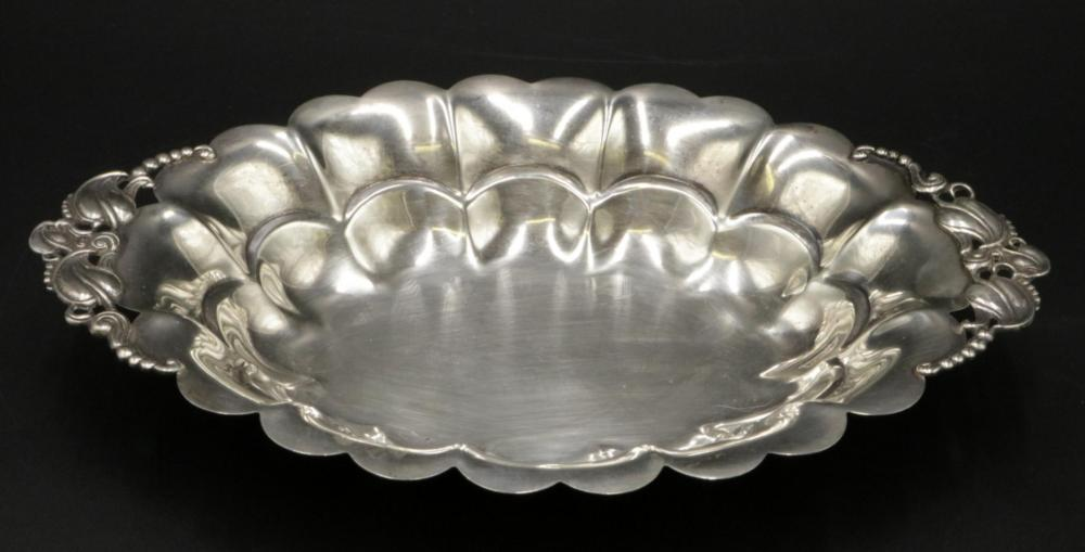 Scalloped Edge Sterling Silver Bowl