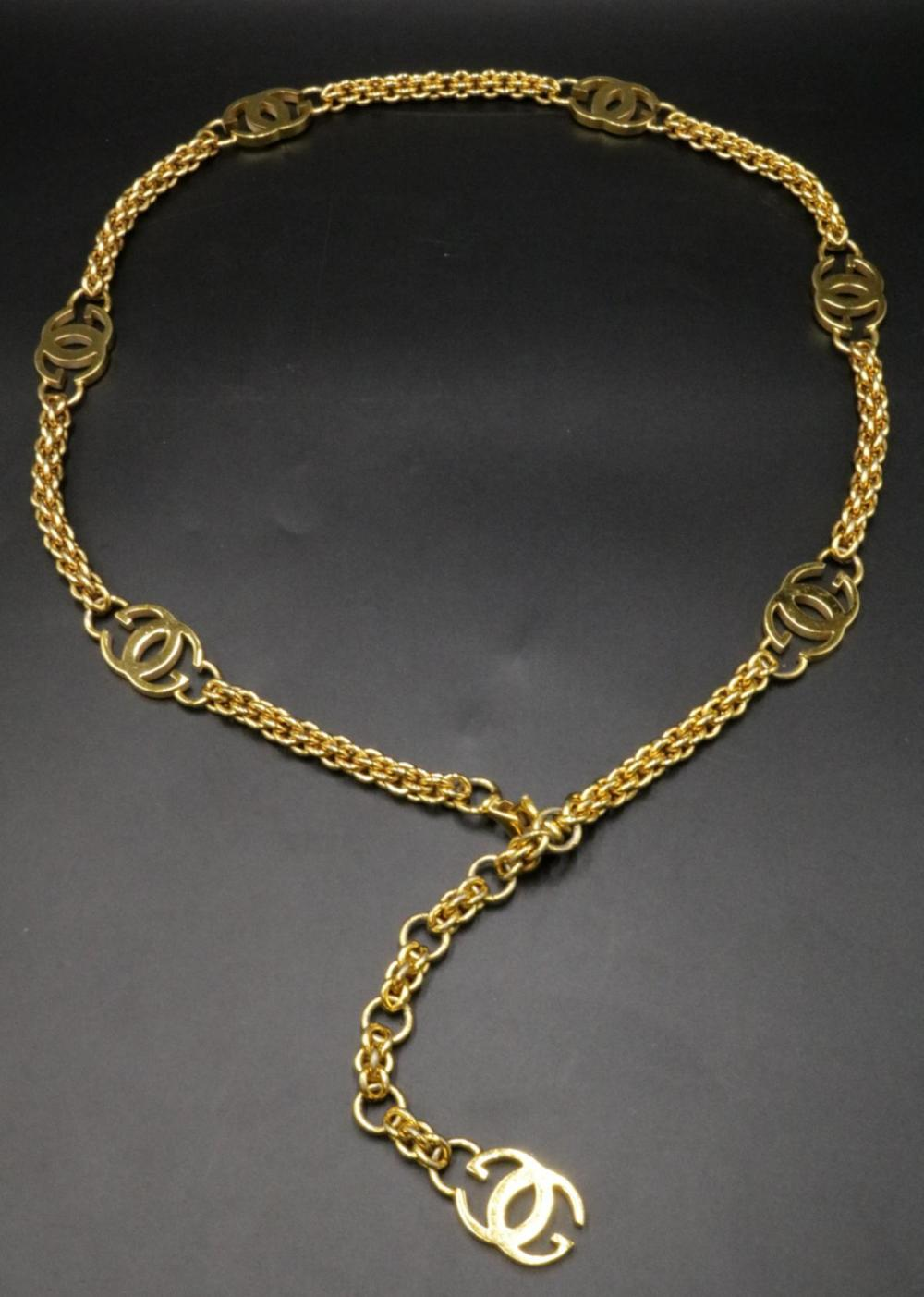 Gucci Logo Gold Tone Belt