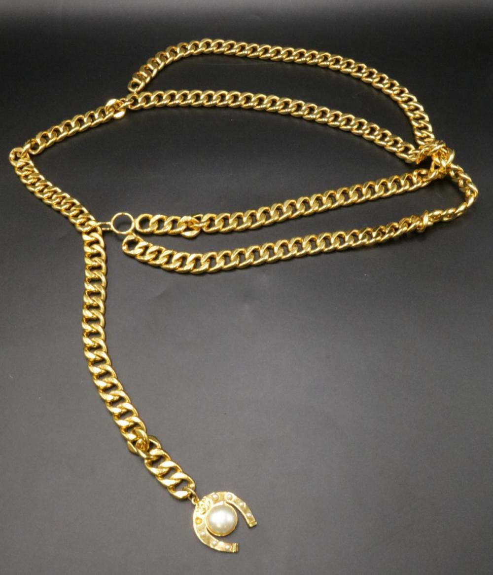 Chanel Logo Gold Tone Belt