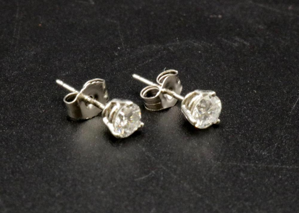 Platinum & Diamond Stud Earrings