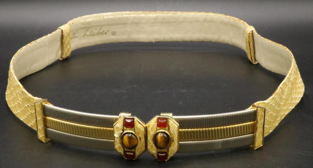 Vintage Judith Leiber Snake Skin Belt