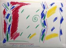 Original Aki Kuroda (Japan, b. 1944) Oil Pastel