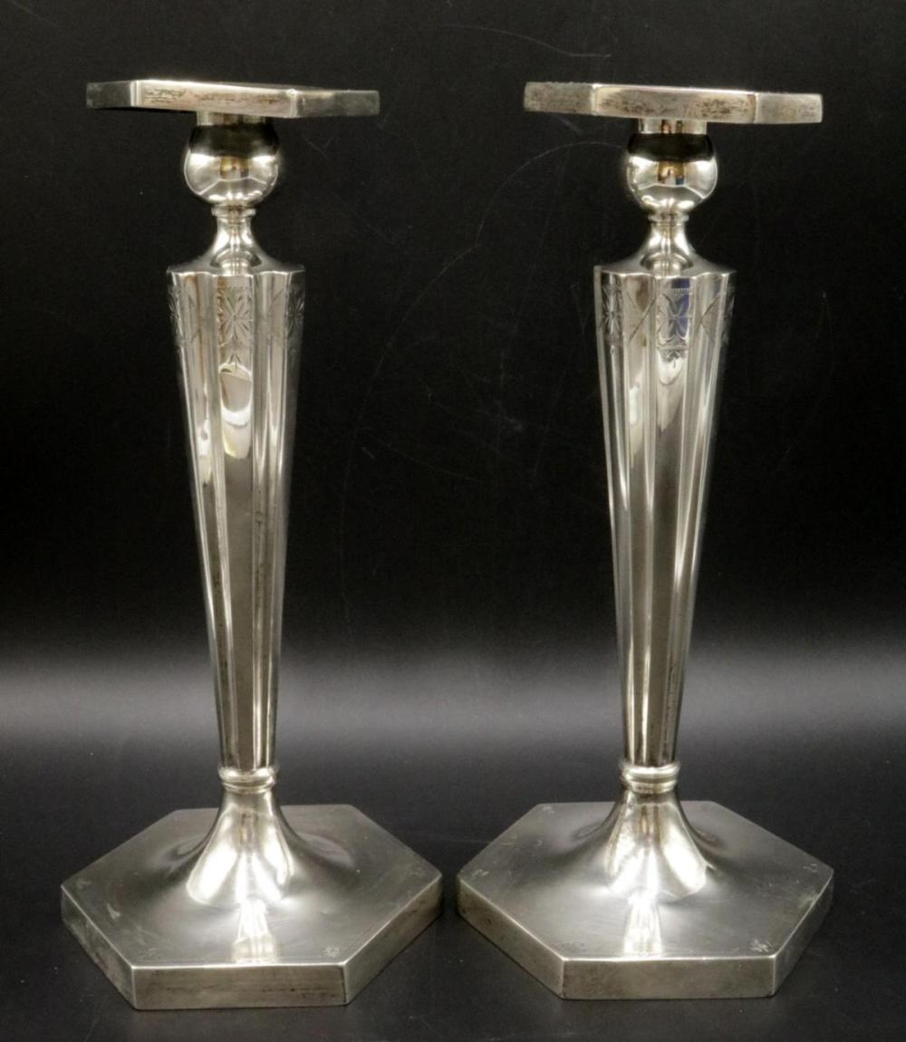 Victor Seidman Mfg Co. NY Sterling Candle Sticks