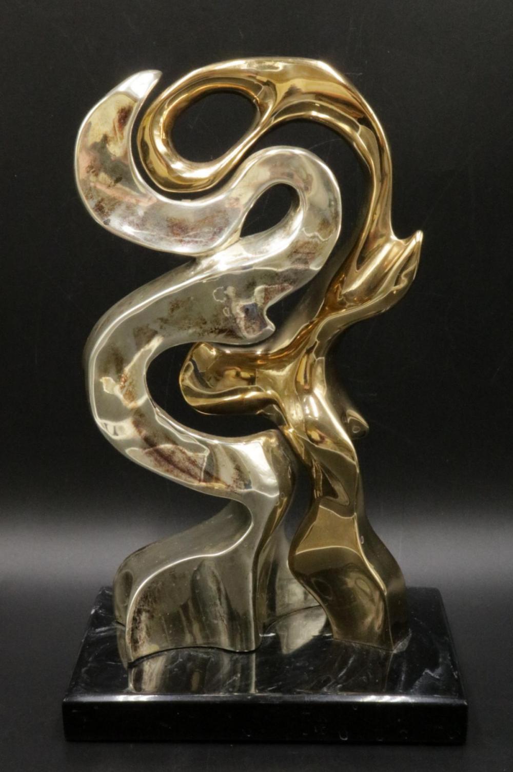 """Fernando Mendoza """"Amantes"""" Sterling Sculpture"""