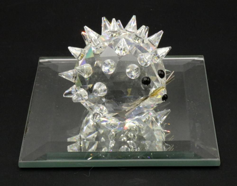 Large Swarovski Crystal Porcupine w/ Base