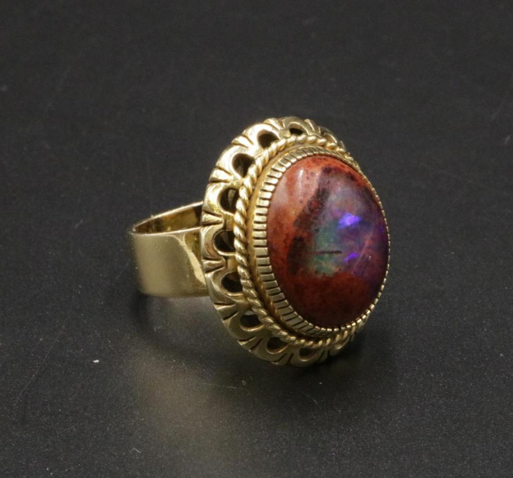 Mexican 14Kt & Fire Opal Ring