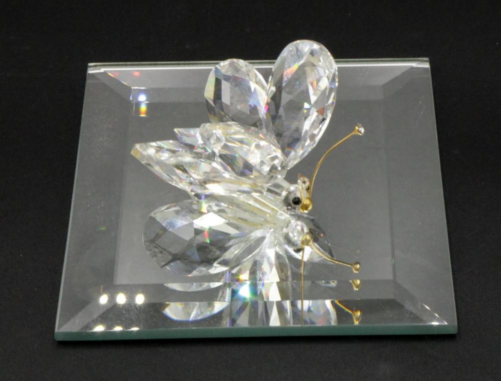 Large Swarovski Crystal Butterfly w/ Base