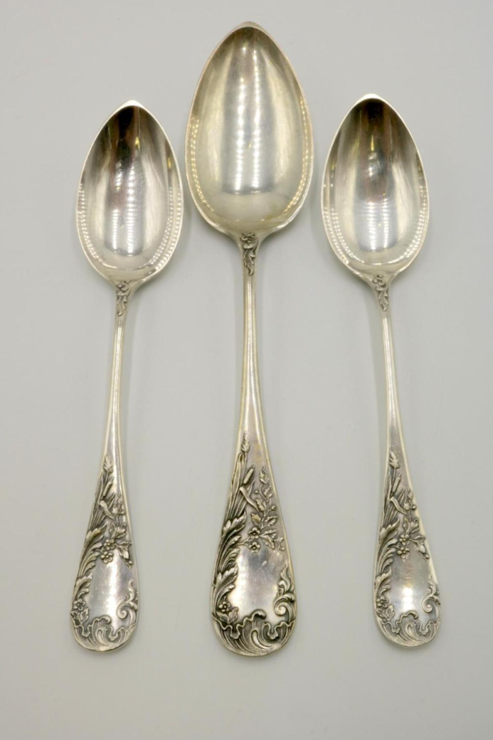 3 Pc. Russian 800 Silver Serving Spoons
