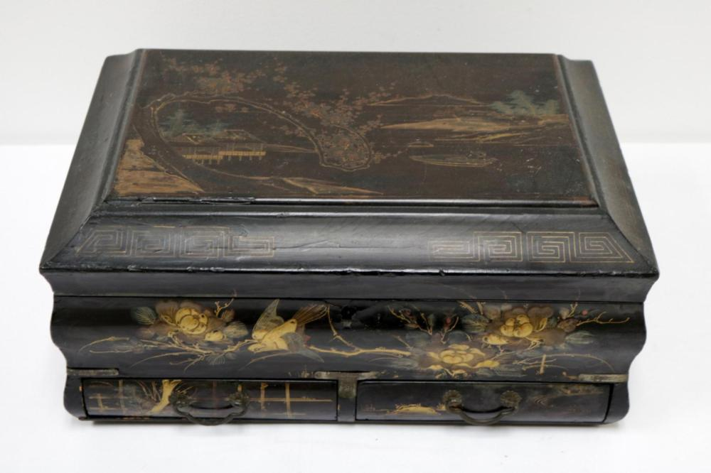 Antique Chinese Black Lacquered Box