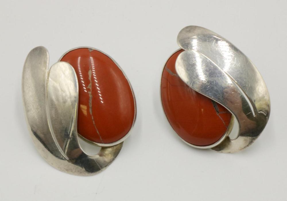 Beautiful Sterling & Coral Earrings