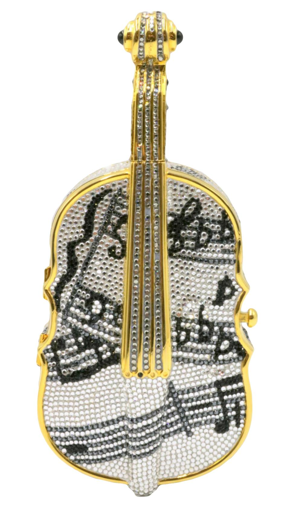 "Rare Judith Leiber ""Cello"" Swarovski Crystal Evening Bag"
