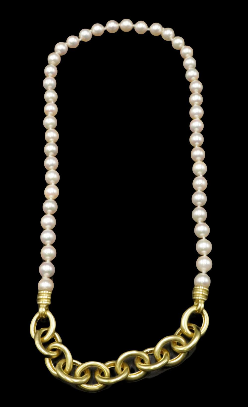 Judith Ripka 18Kt & Pearl Necklace