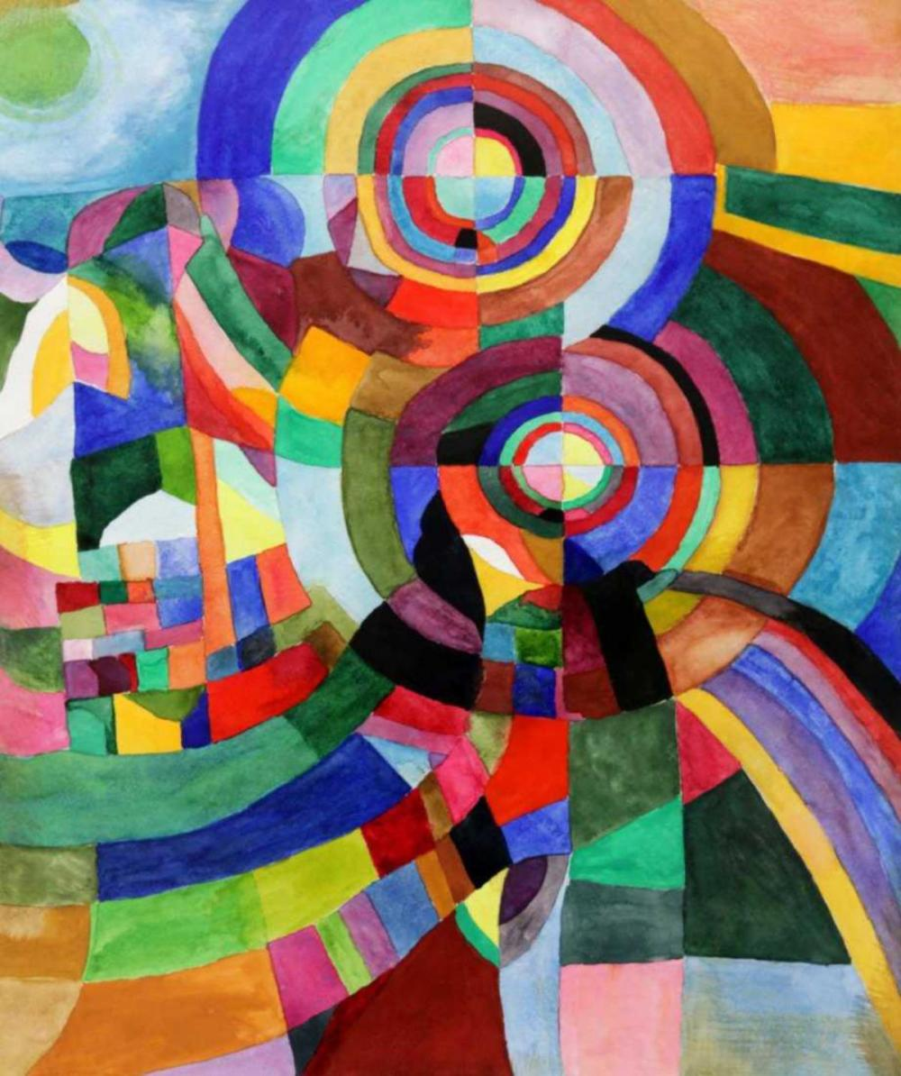 Attr. To Sonia Delaunay Watercolor on Paper