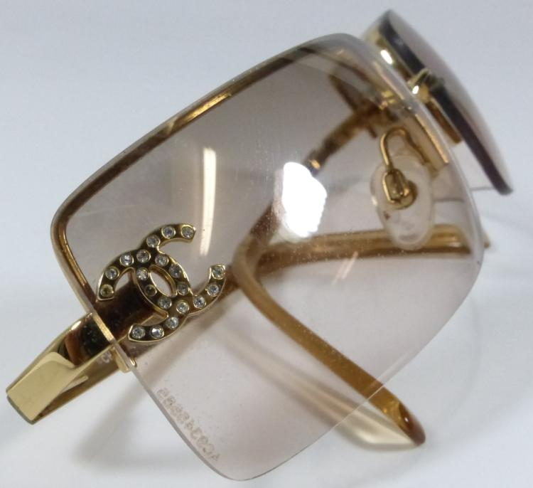 Gold Frame Chanel Sunglasses : CHANEL SUNGLASSES GOLD FRAME w CASE