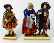 2pc CAPODIMONTE GERMAN PORCELAIN FIGURINES