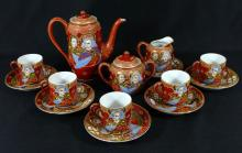 14pc JAPANESE SATSUMA PORCELAIN TEA SET
