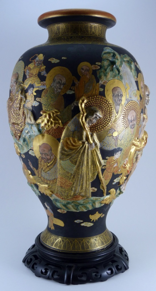 Japanese meiji period satsuma vase for Asian antiques west palm beach