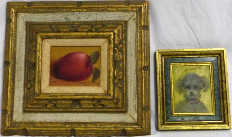 2pc DONALD ALLAN OIL PAINTINGS ON BOARD