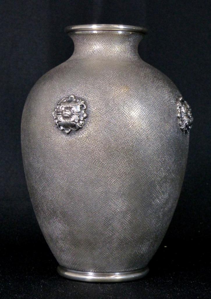 mario buccellati 800 silver vase