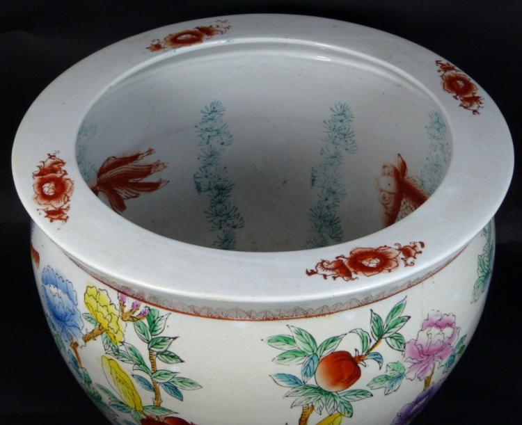 Decorative chinese porcelain fish bowl planter for Chinese fish bowl