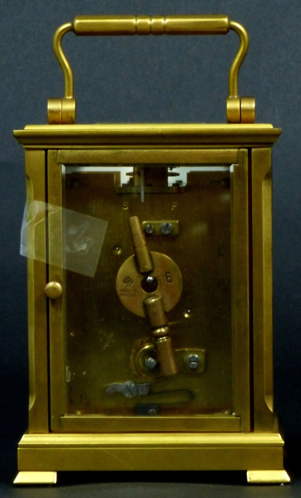 Dent london brass carriage clock for Furniture auctions london