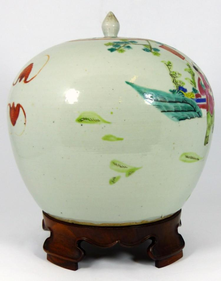 Chinese famille rose porcelain ginger jar for Asian antiques west palm beach