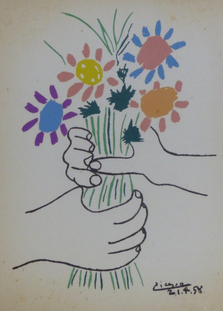 Pr picasso prints 39 petite fleurs 39 39 la radonde 39 for Picasso petite fleurs