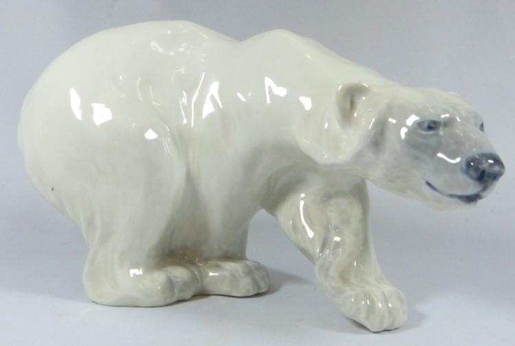 Sold Price  Royal Copenhagen Polar Bear Porcelain Figurine