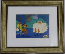 SCOOBY DOO HAND PAINTED PRODUCTION CEL SIGNED