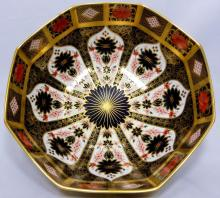 ROYAL CROWN DERBY IMARI PORCELAIN BOWL 11