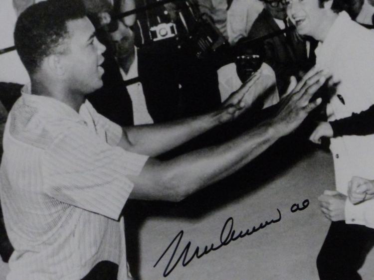 Muhammad Ali Amp Beatles Autographed Photo