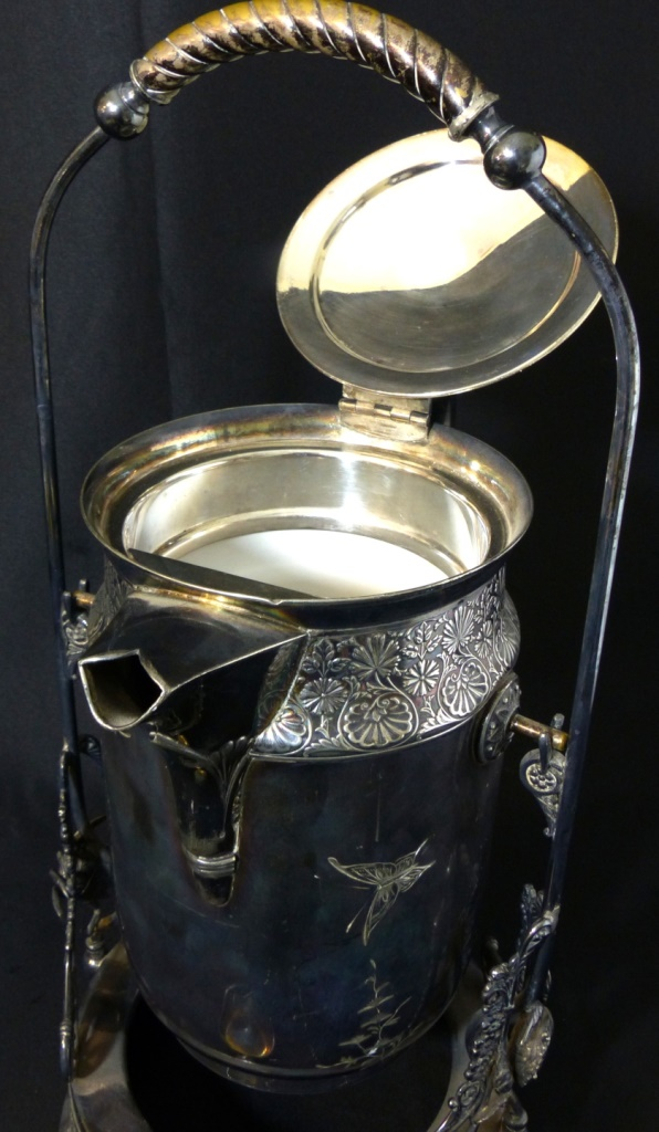 Derby silver co ornate silverplate water server for Decor fusion interior design agency manchester m3