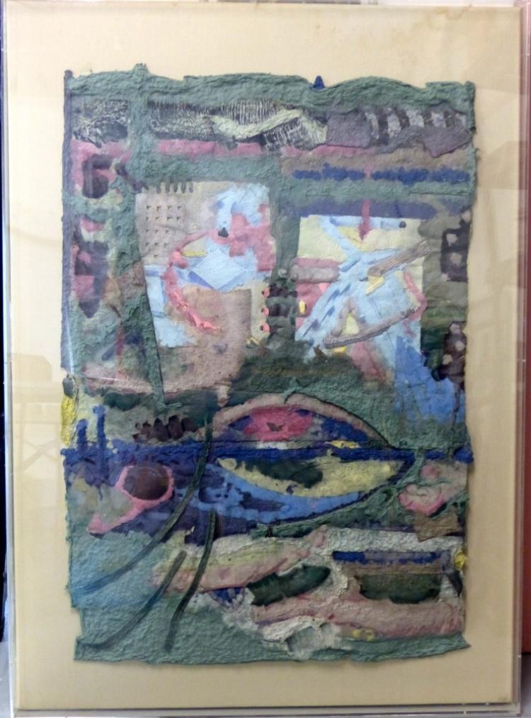 A. VAN DOMMELEN MODERN COLLAGE HANDMADE PAPER