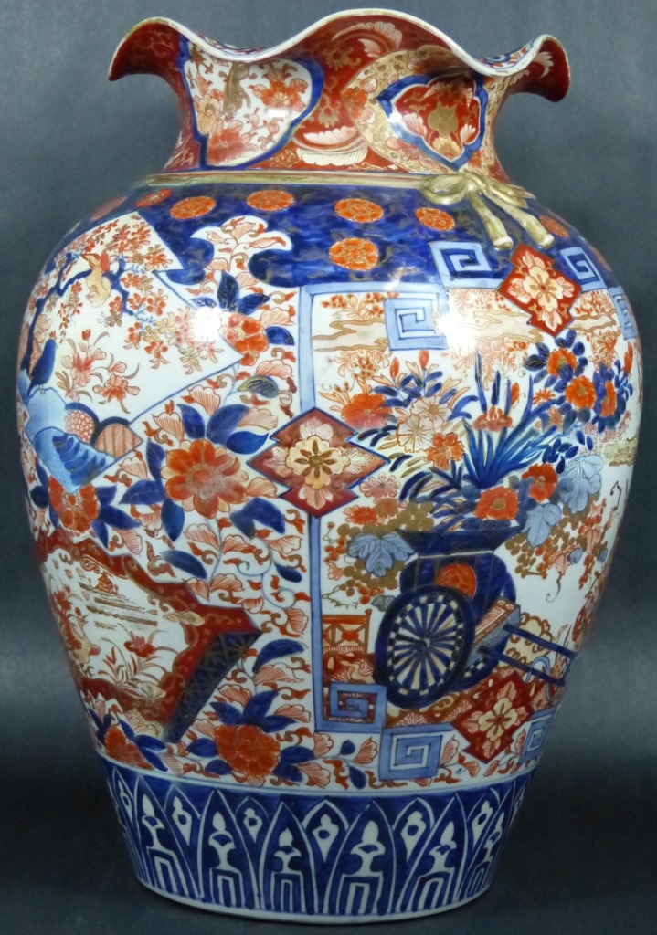 Large Antique Japanese Imari Porcelain Vase