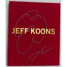 JEFF KOONS FLOWER DRAWING ON BOOK COVER