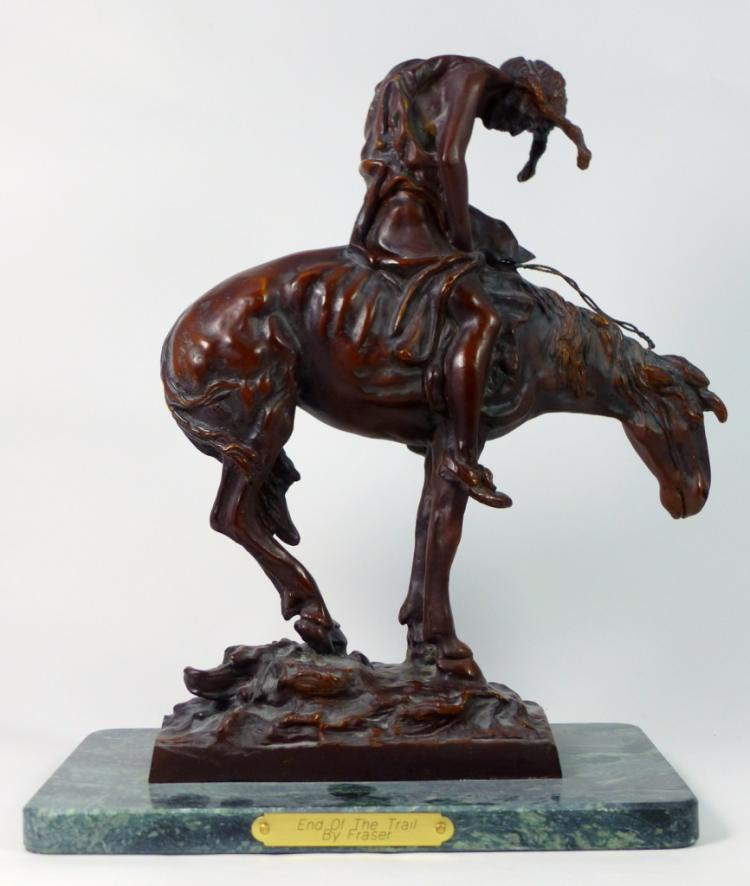 J.E. FRASER 'END OF THE TRAIL' BRONZE SCULPTURE