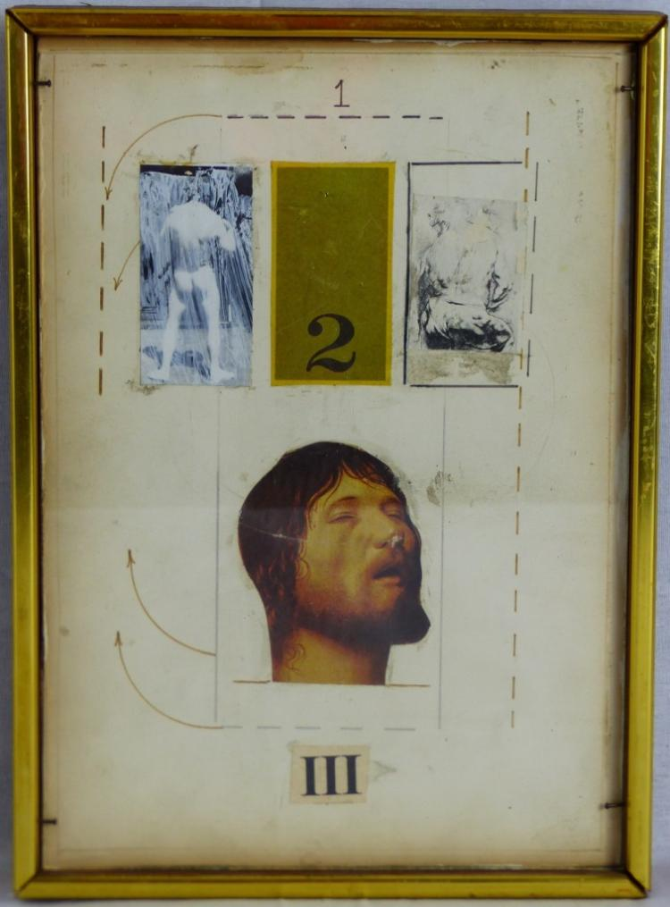 GARRY LORENCE RICH MIXED MEDIA w COLLAGE