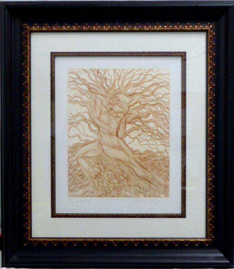 GUILLAUME AZOULAY 'BABYLONICA' ETCHING