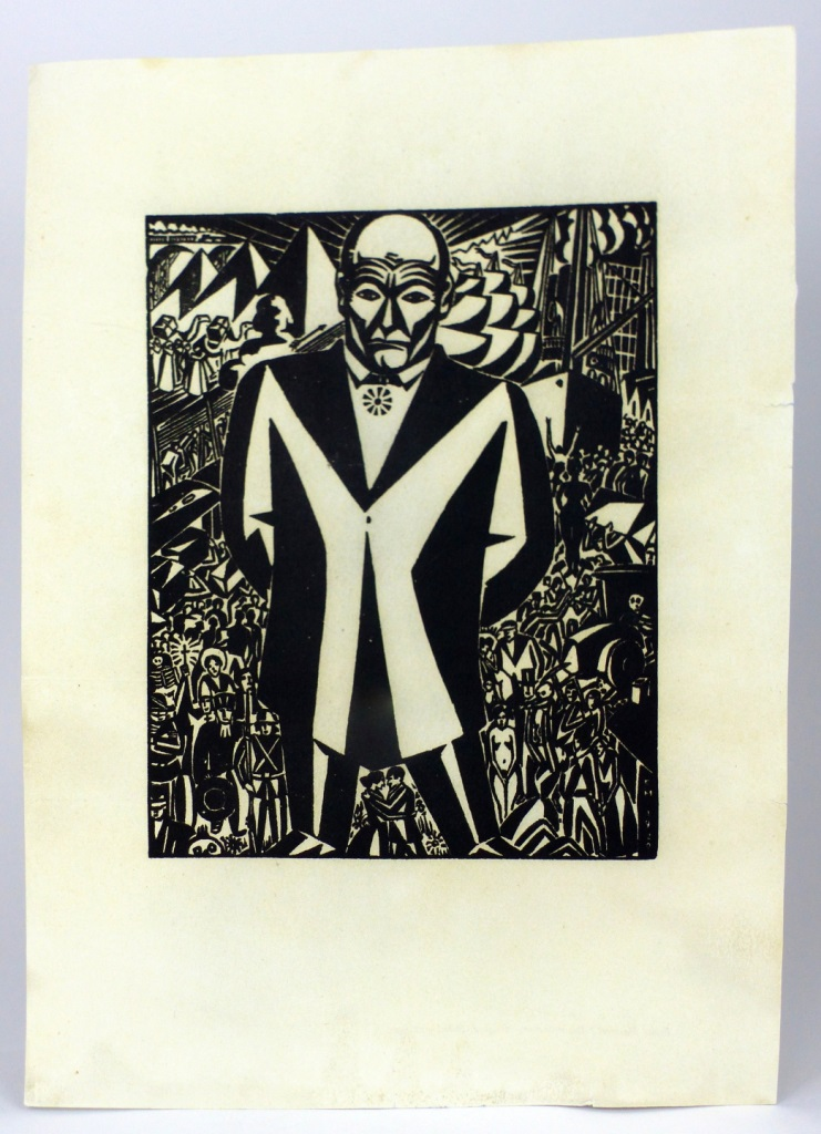 FRANS MASEREEL 'BUSINESS-MAN' WOODCUT