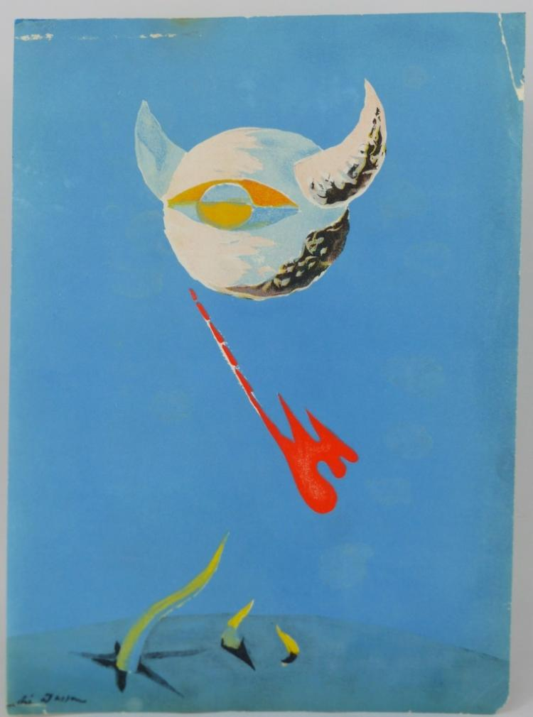 ANDRE MASSON 'THE MOON' LITHOGRAPH