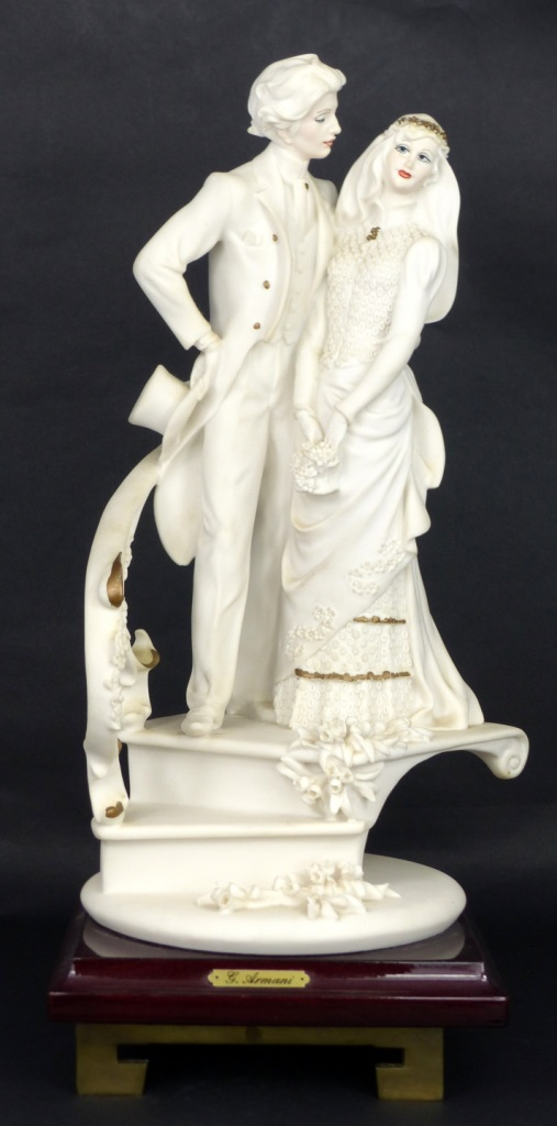 GIUSEPPE ARMANI BRIDE & GROOM SCULPTURE