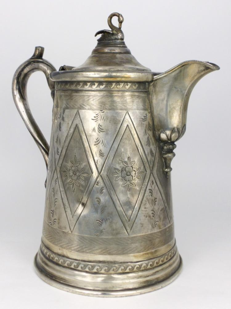 REED & BARTON VICTORIAN DOUBLE WALL PITCHER