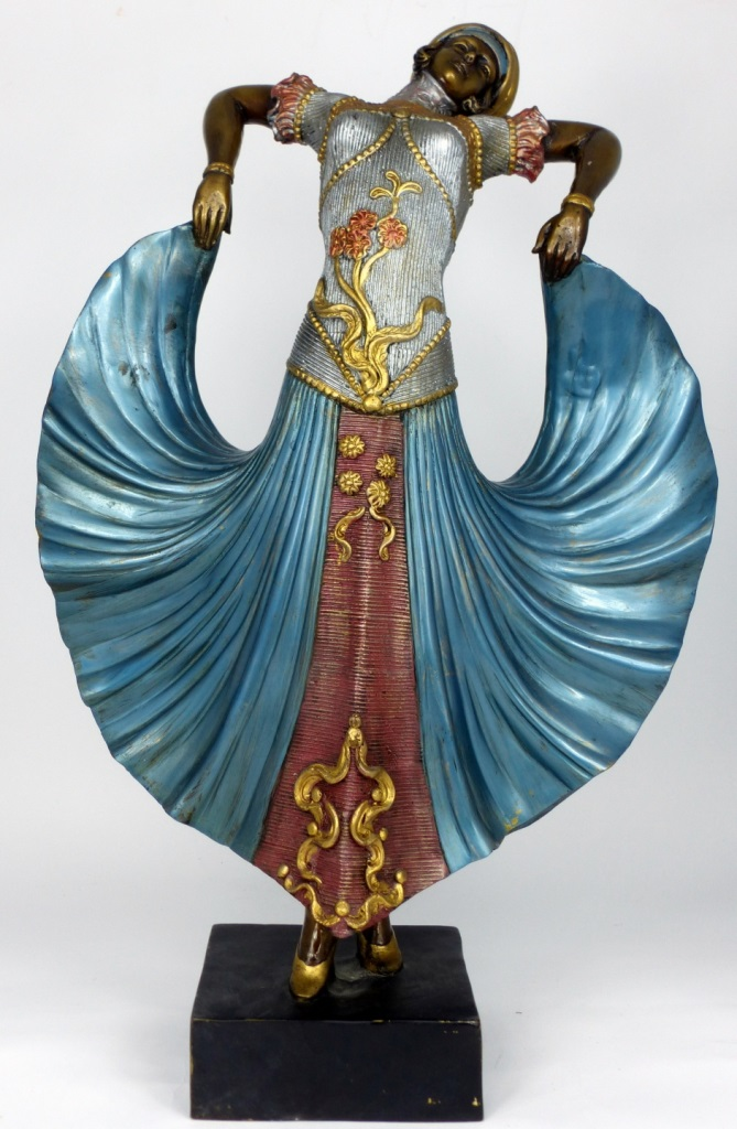 POLYCHROME BRONZE DANCER AFTER CHIPARUS