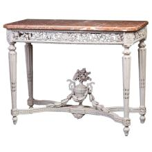 Louis XVI Pale Gray-Painted Console