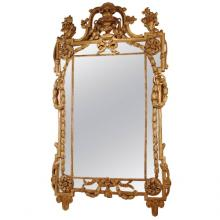Rare Late Louis XV Giltwood Mirror