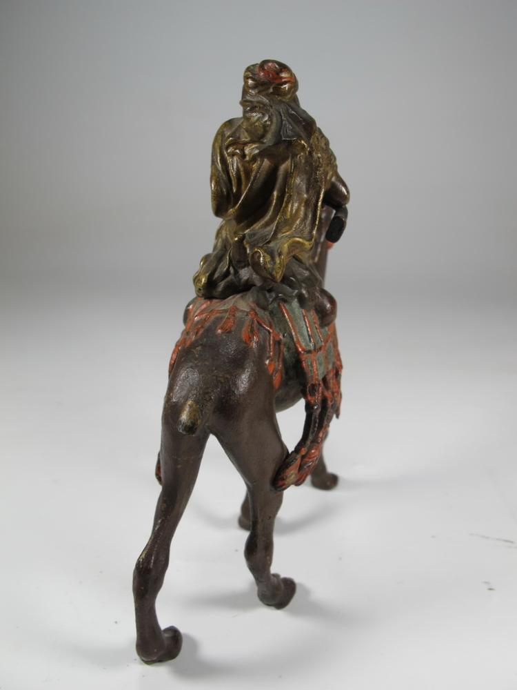 Franz BERGMAN (1898-1963) Orientalist bronze Arab u0026 camel