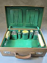 Old vanity set in a case