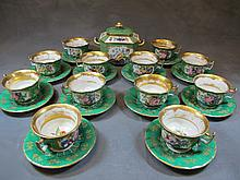 French teapot set of 13 porcelain pcs