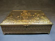 Antique French bronze box