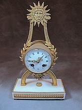 Antique French PONS bronze & marble clock
